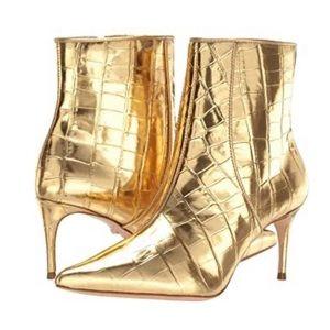New Schutz® Ravel Metallic Gold Stiletto Boots